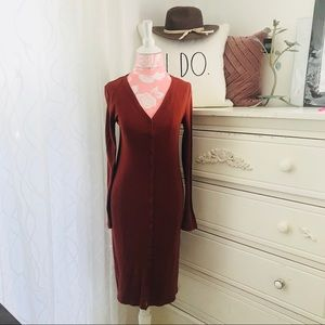 Jersey knit body concious dress L